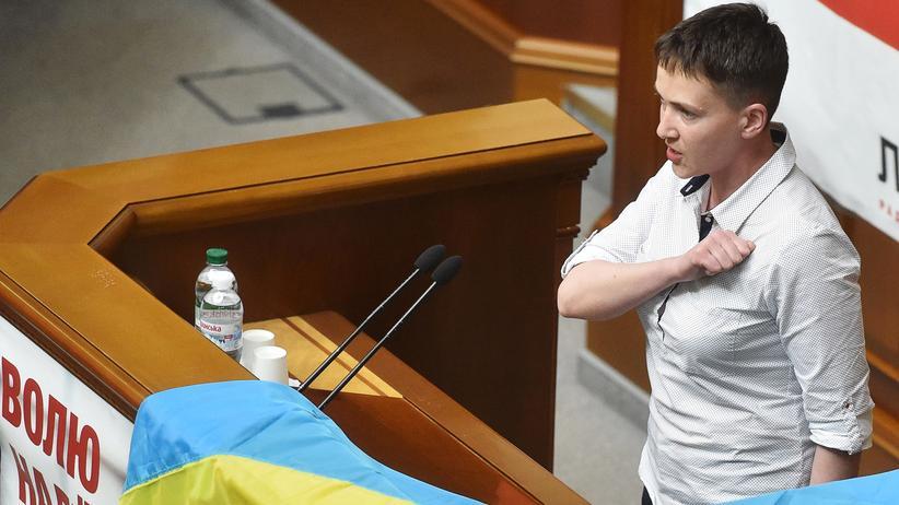 Die ukrainische Pilotin Nadija Sawtchenko
