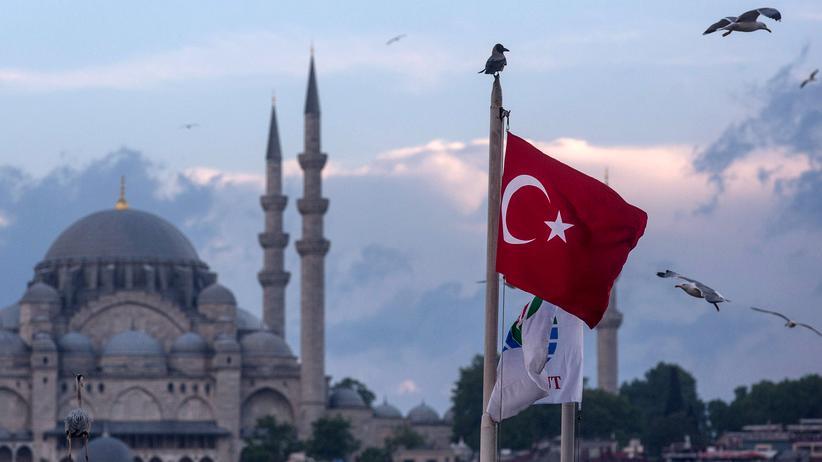 Visafreiheit für Türkei: Möwen, die durch den Himmel von Istanbul fliegen.
