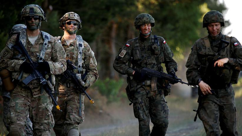 """Nato: Polnische Soldaten bei der Nato-Militärübung """"Anakonda"""" Anfang Juni"""