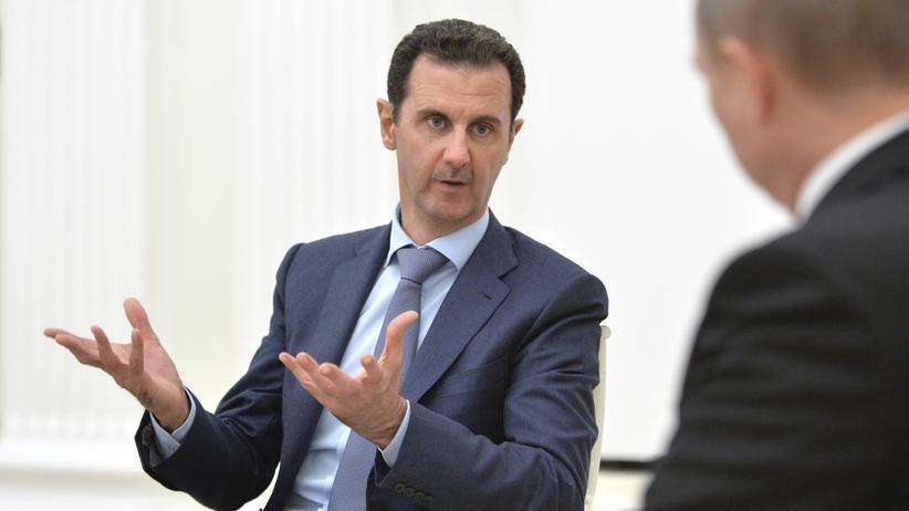 Syrien: Präsident Assad bei einem Besuch bei Präsident Putin in Moskau im Oktober 2015