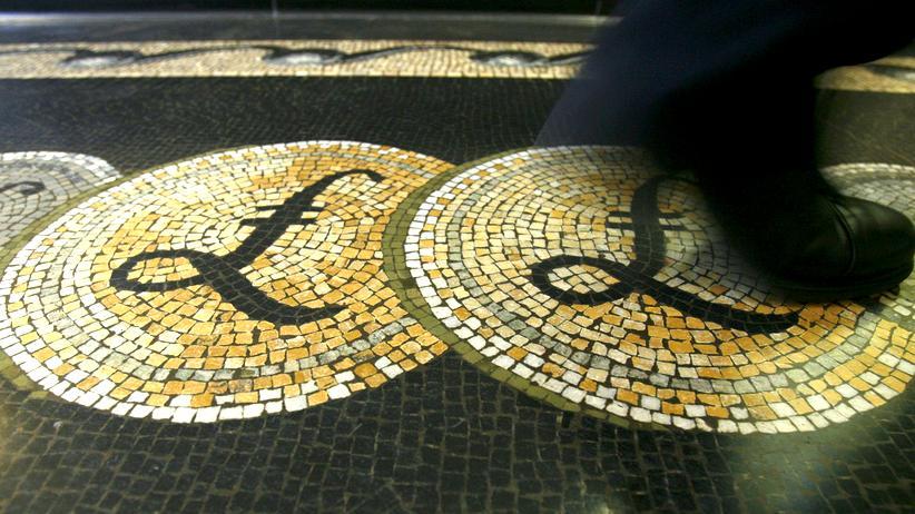 Europäische Union: Mosaik in der Vorhalle der Bank of England in London