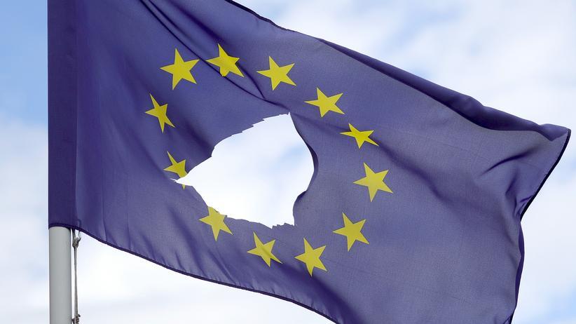Brexit: Und raus bist du: Eine Europaflagge im britischen Knutsford Cheshire