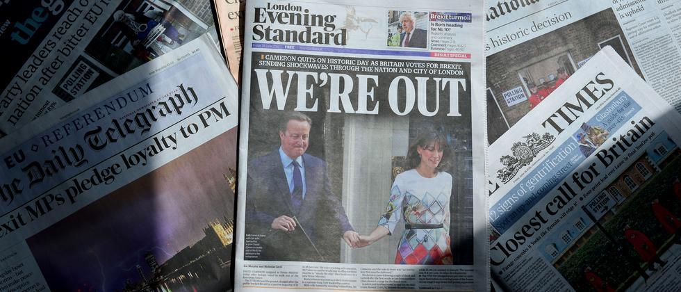 """Eine Ausgabe der britischen Zeitung """"London Evening Standard"""""""