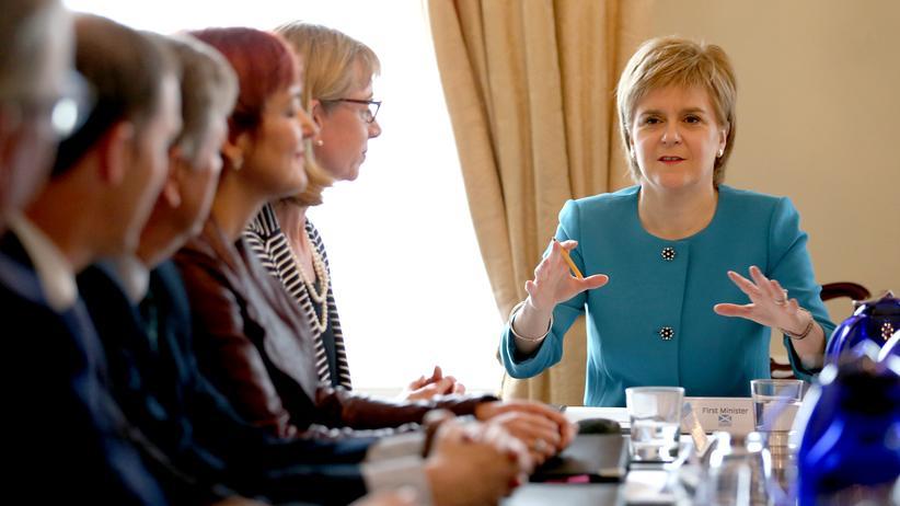Großbritannien: Nicola Surgeon befürwortet die Unabhängigkeit Schottlands.