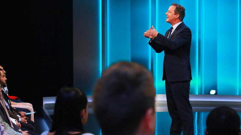 David Cameron während der TV-Show über den Brexit