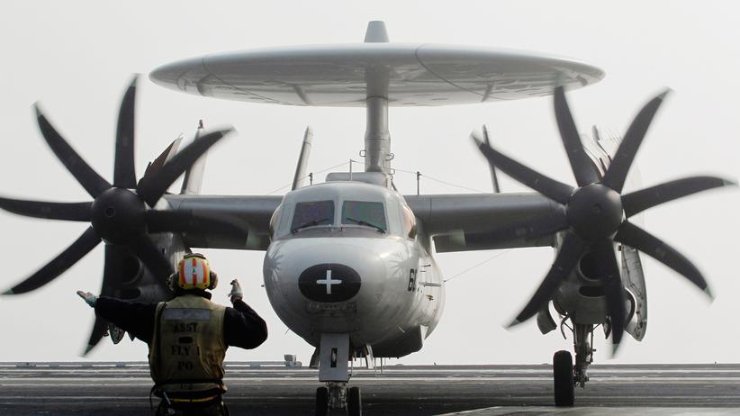 Pazifik: Ein US-Aufklärungsflugzeug während einer gemeinsamen Militärübung der USA und Südkoreas im November 2010