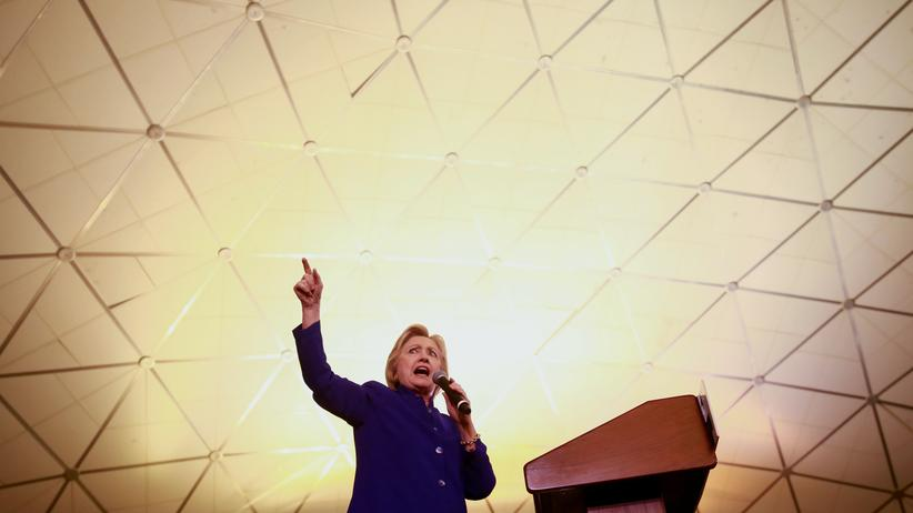 US-Wahl: Hillary Clinton am 1. Juni in Newark, New Jersey
