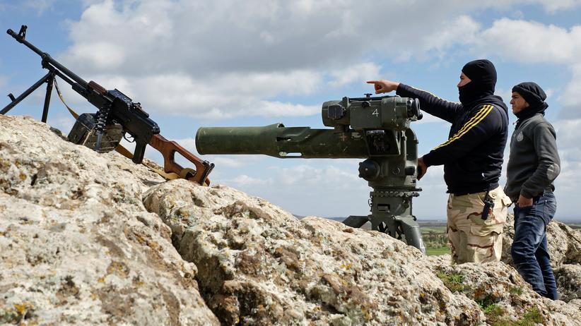 Jordanien: Kämpfer der Freien Syrischen Armee im Nordwesten der Region Dar'ā (Archivbild)
