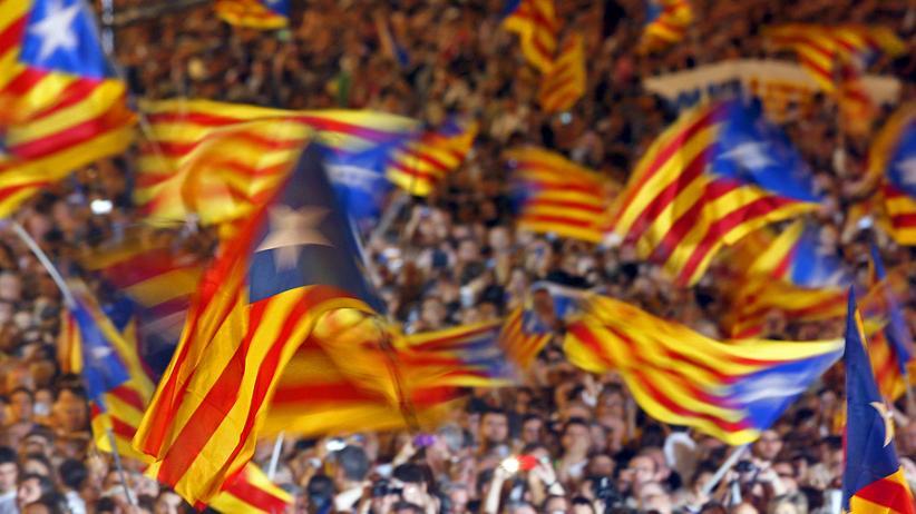 Unterstützer des Unabhängigkeitsprozesses in Katalonien
