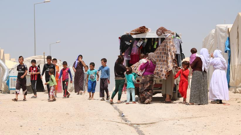 Nordirak: Jesidische Vetriebene im Sharia Lager in der Nähe von Dohuk