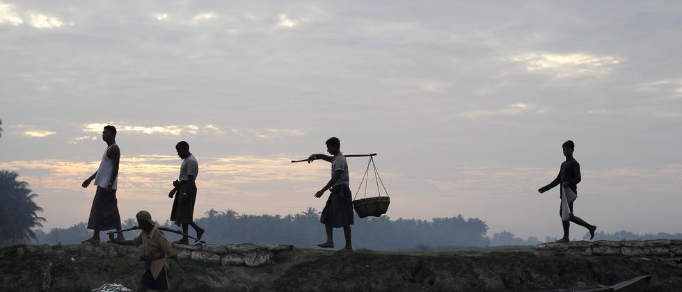 Fischer der Rohingya