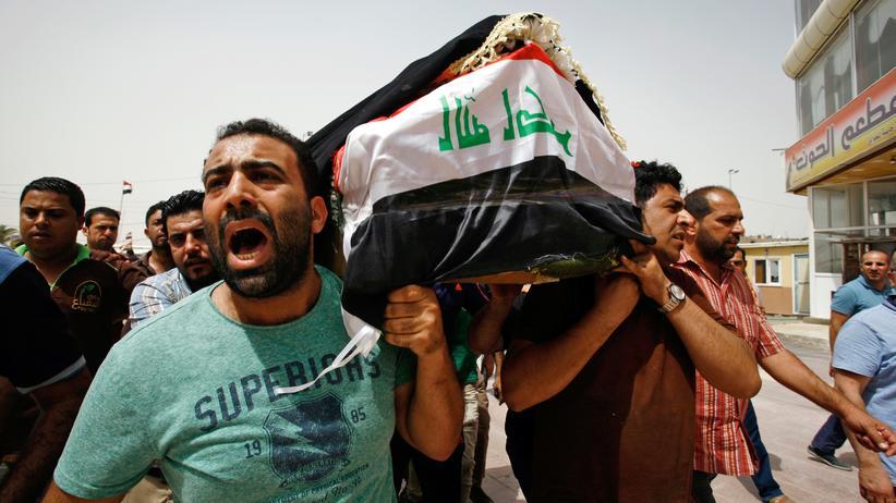 Bagdad: Beerdigung von Anschlagsopfern in Nadschaf