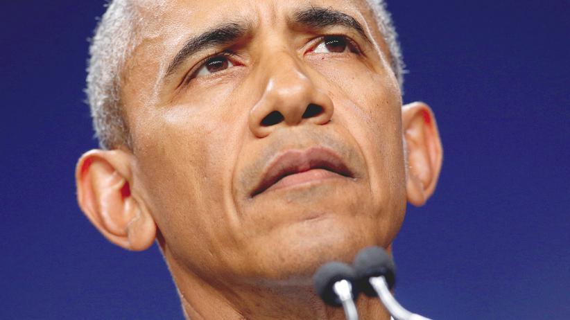 USA: US-Präsident Barack Obama bei einer Pressekonferenz beim Nato-Gipfel in Warschau