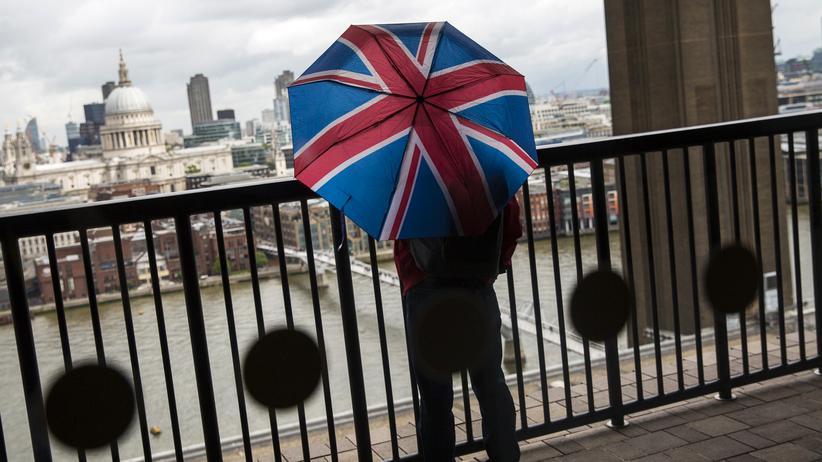 Brexit: Ein Besucher überblickt von der Kunstgalerie Tate Modern aus die britische Hauptstadt