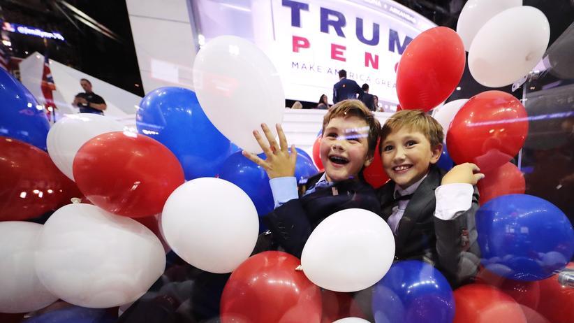 US-Wahl: Kinder auf dem Parteitag der Republikaner in Cleveland