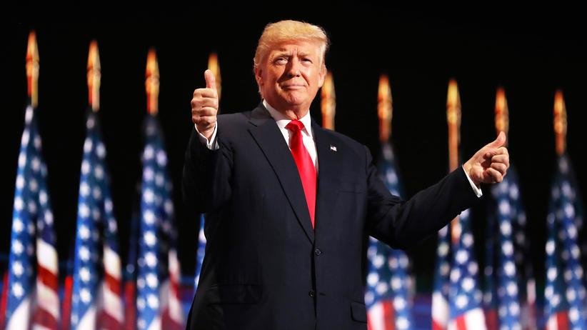 Donald Trump: Donald Trump am letzten Tag des Parteitags in Cleveland