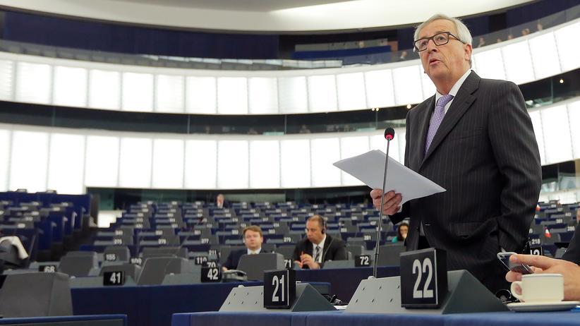 EU-Kommissionschef: EU-Kommissionschef Juncker vor dem EU-Parlament in Straßburg