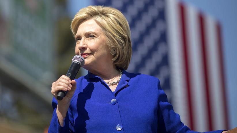 US-Wahl: Hillary Clinton bei einem Wahlkampfauftritt in Los Angeles
