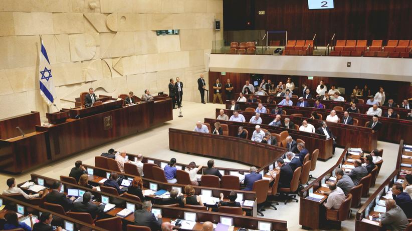 Knesset: Parlamentarier bei einer Debatte in der Knesset