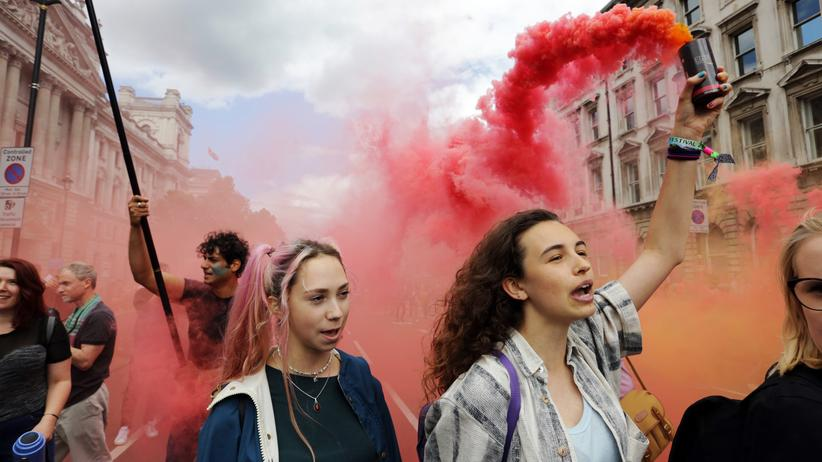 London: Demonstranten während des March for Europe in London