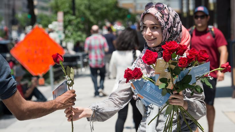 Integration: Eine muslimische Frau wirbt für Toleranz in Washington D.C.