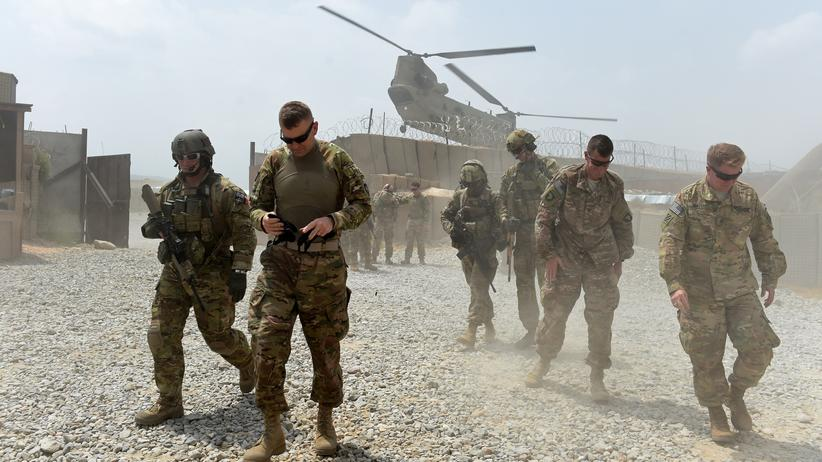 US-Truppen: US-Soldaten auf ihrem Militärstützpunkt in Khogyani