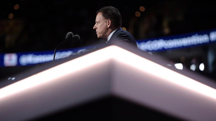 Peter Thiel: Peter Thiel während seiner Rede des Parteitages der Republikaner in Cleveland.