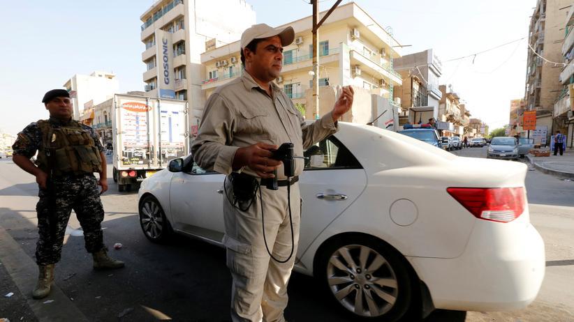 Irak: Sicherheitskräfte an einem Checkpoint in Bagdad
