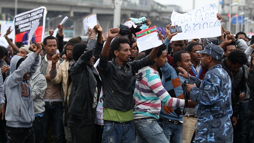 aethiopien, demonstration, amnesty, international, oromia