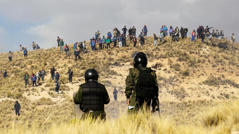 Bolivien: Polizei setzt Tränengas gegen protestierende Bergarbeiter ein