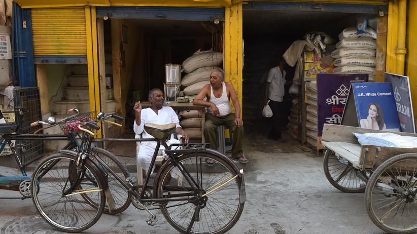 Ladenbesitzer in Neu Delhi