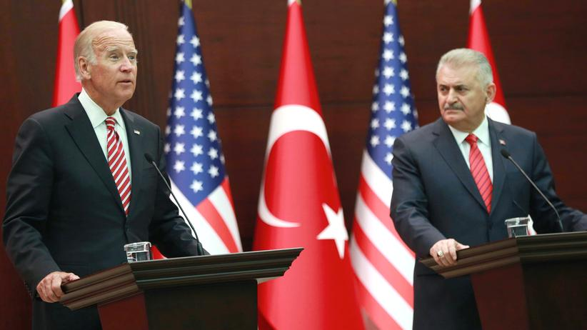 Joe Biden Binali Yildirim Ankara