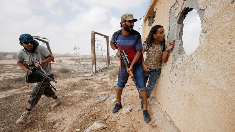 Libyen: Kämpfer der lybischen Regierung in Sirte (Achivbild)