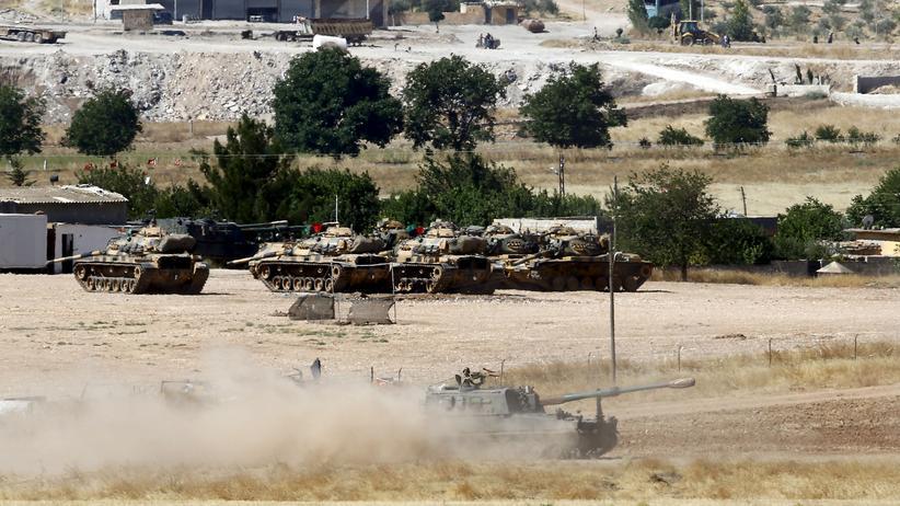 nordsyrien, tuerkische, artillerie, islamischer, staat