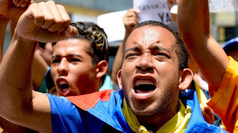 Venezuela: Protest von Oppositionellen in Caracas