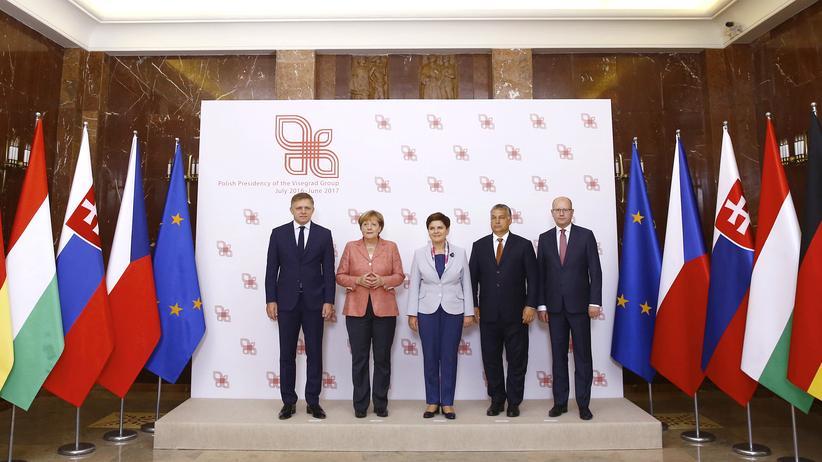 Angela Merkel, Robert Fico, Beata Szydło, Viktor Orbán, Bohuslav Sobotka