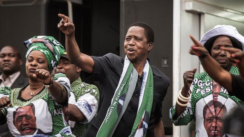 Sambia: Amtsinhaber Lungu gewinnt Präsidentschaftswahl