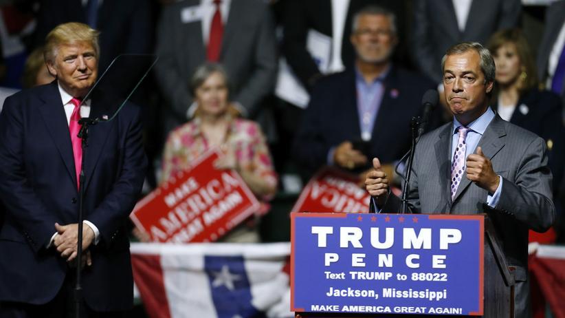 US-Wahl: Farage meets Trumps