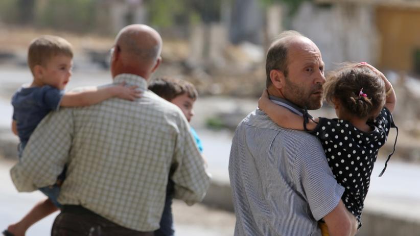 Syrien: Bewohner eines umkämpften Viertels in Aleppo