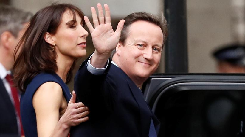 Großbritannien: David Cameron mit seiner Ehefrau