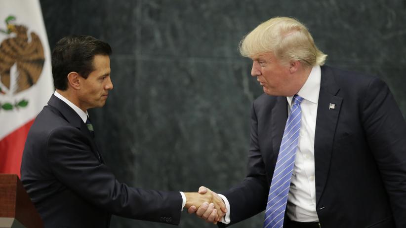 Donald Trump Enrique Pena Nieto Mexiko