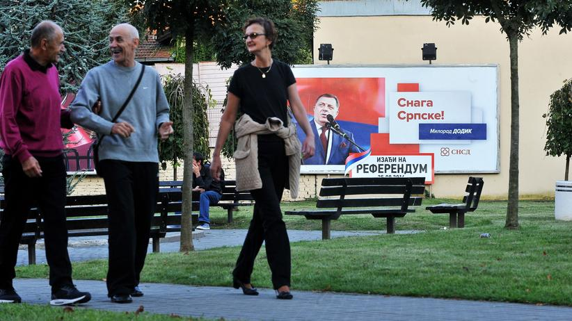 Bosnien: Werbung für das Referendum im westbosnischen Banja Luka