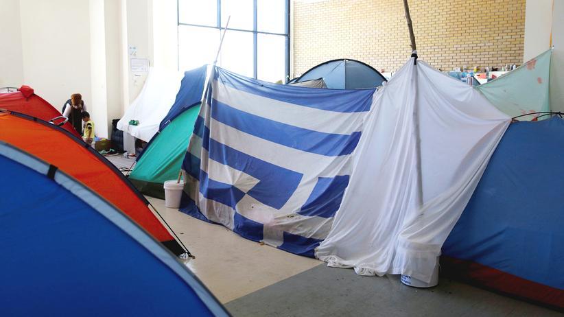 Griechenland Flüchtlinge Unterkunft