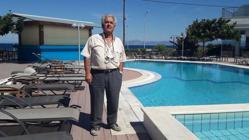 Lesbos: Pericles Antoniou vertritt die Hoteliers auf Lesbos. Der Einbruch des Tourismus hat schon einige Arbeitsplätze in seiner Branche gekostet.