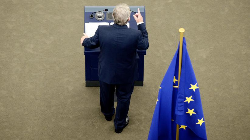 Europäische Union: European Commission's President Jean-Claude Juncker delivers a speech as he makes his State of the Union address to the European Parliament in Strasbourg, eastern France, on September 14, 2016.  / AFP / FREDERICK FLORIN        (Photo credit should read FREDERICK FLORIN/AFP/Getty Images)