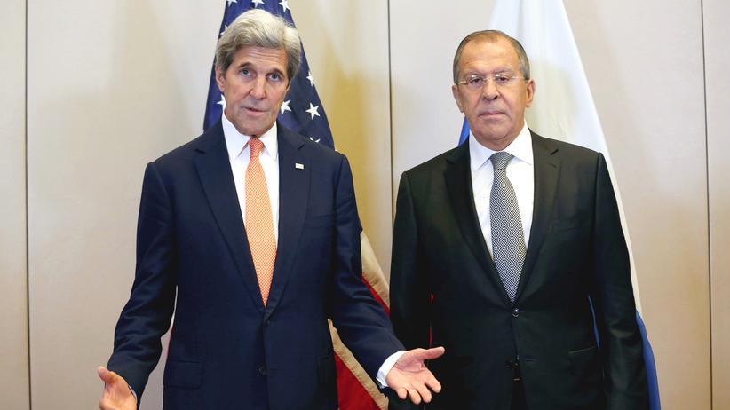 John Kerry Sergej Lawrow Hotel President Wilson Genf