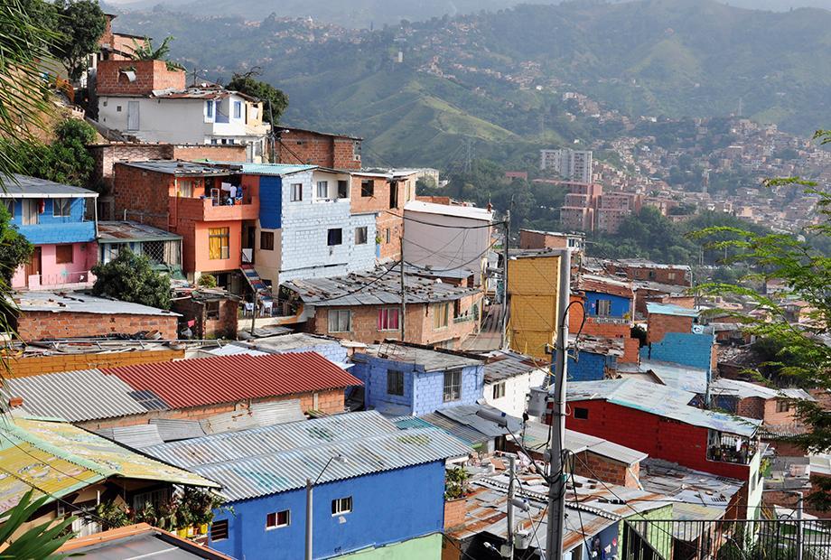 Zeit im Bezirk von Kolumbien