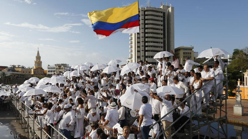 Kolumbien Friedensvertrag Zeremonie Farc Cartagena