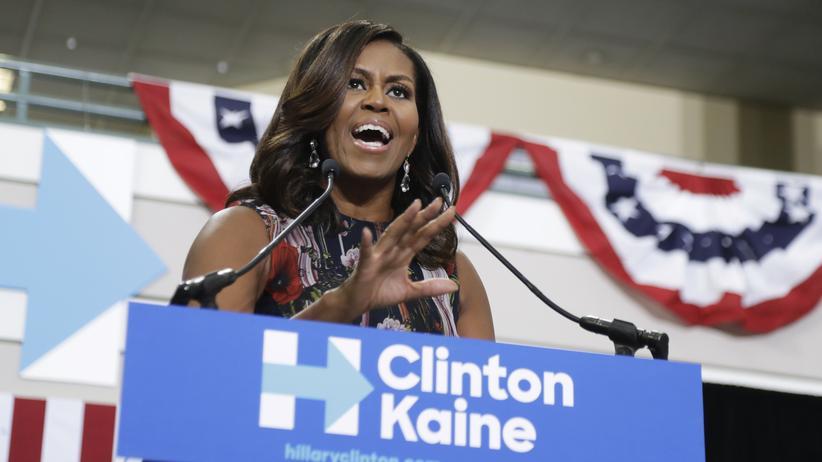 US-Wahl: Michelle Obama auf Clintons Bühne