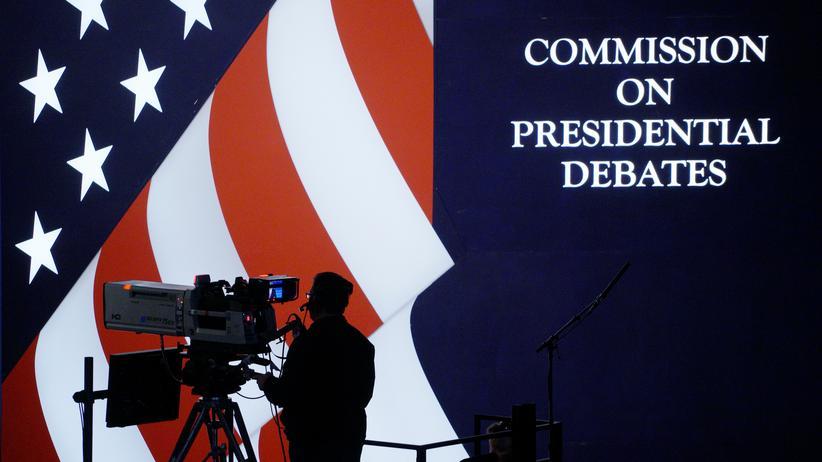 US-Wahlkampf: Probe für das erste TV-Duell zwischen Donald Trump und Hillary Clinton in der Hofstra-Universität in New York
